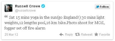 """Mundo Superman 1 - Russel Crowe twittea que participa en una sesión fotográfica para """"Man of Steel"""""""