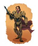 Ilustraciones inspiradas en Jor-El, Faora, Zod,Lois Lane y Superman de El Hombre de Acero