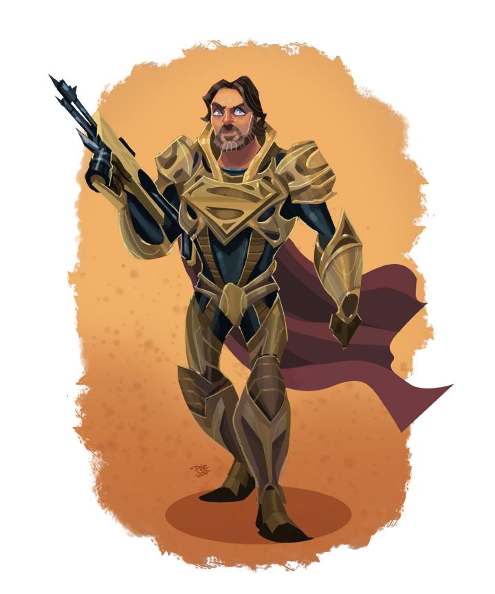 GCSxB7q - Ilustraciones inspiradas en Jor-El, Faora, Zod,Lois Lane y Superman de El Hombre de Acero