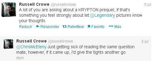 Mundo Superman 35 - Russell Crowe y la precuela de El Hombre de Acero