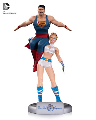 DC Bombshells Power Girl and Superman - Figura DC Bombshells de Power Girl y Superman