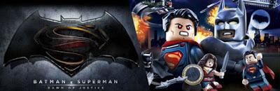 """PÓSTER DE LEGO DE """"BATMAN V SUPERMAN: EL AMANECER DE LA JUSTICIA"""""""