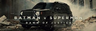 Material inédito de Bruce Wayne conduciendo durante la batalla de Metrópolis en un anuncio de Jeep