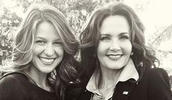 Lynda Carter y Melissa Benoist