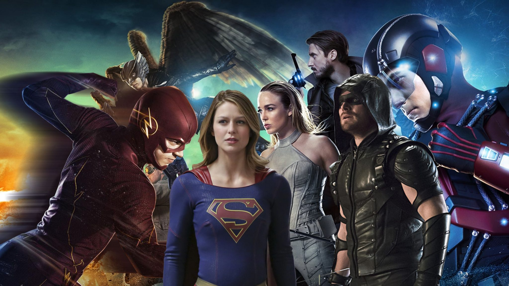 """arrowverso crossover 2017 - The CW renueva """"Supergirl"""", """"The Flash"""", """"Batwoman"""", """"Legends of Tomorrow"""" y """"Black Lightning"""" para la temporada 2020"""