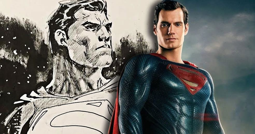 jim lee superman header - Artistas del cómic ilustran a Henry Cavill como Superman y a la Liga de la Justicia cinematográfica