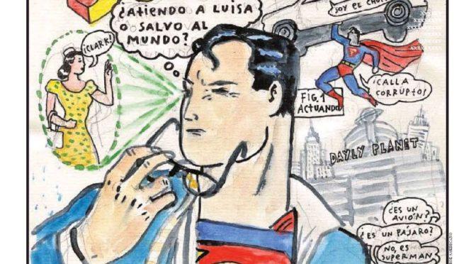El Arte Español dibuja a Superman en el ABC Cultural