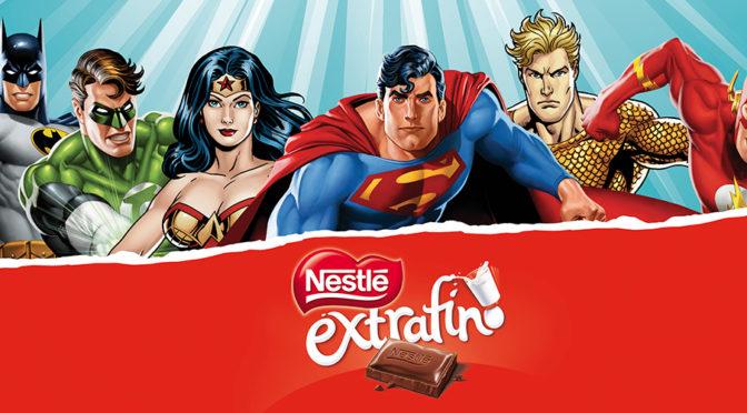 Consigue vasos de la Liga de la Justicia con Chocolates Nestlé España