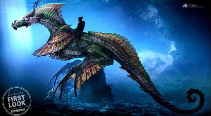 Primer vistazo al gigantesco Dragón marino de Aquaman