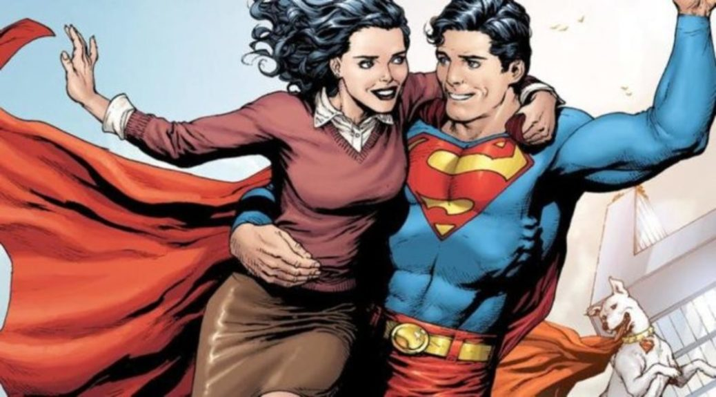 """superman y lois lane - Lois y Clark en la granja Kent de Smallville para el crossover """"Elseworlds"""""""