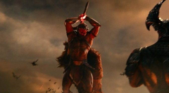 Esta imagen de la Liga de la Justicia revela el primer plano del traje original de Ares