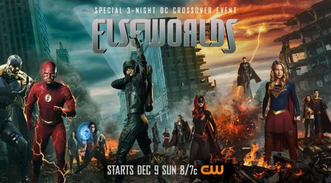 """Banner promocional del crossover """"ElseWorlds"""" con todos los protagonistas"""