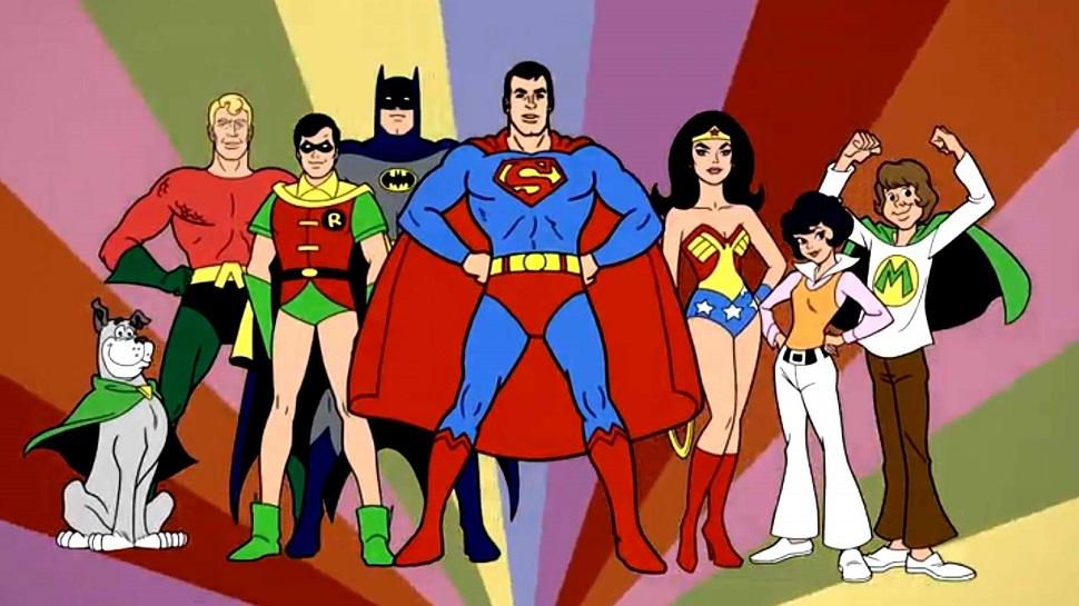Super Friends Super Amigos - Subasta de bocetos de Superman de la serie animada 'Super Friend'