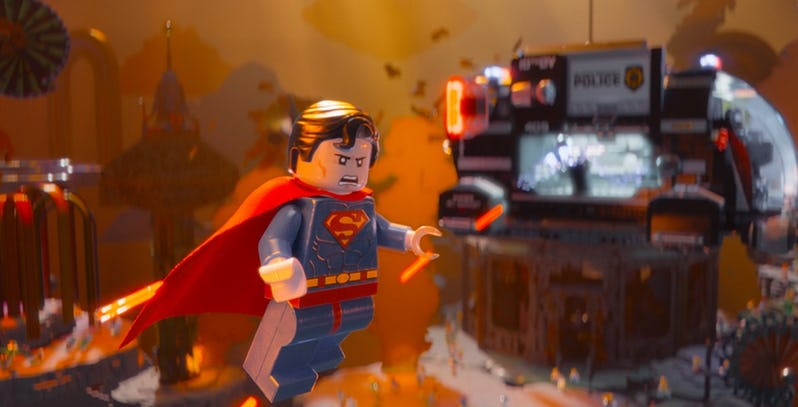 Channing Tatum as Superman in The Lego Movie - Exclusivas portadas de Blu-ray de LEGO para 'El Hombre de Acero' y 'Batman V Superman'