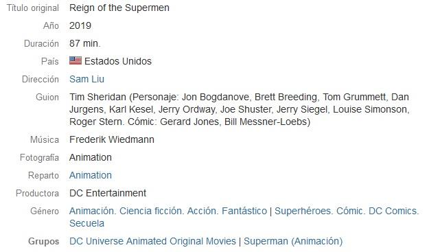 El Reinado de los Superhombres - El Reinado de los Superhombres (2019)