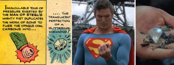 La primera vez que Superman convirtió carbón en diamante