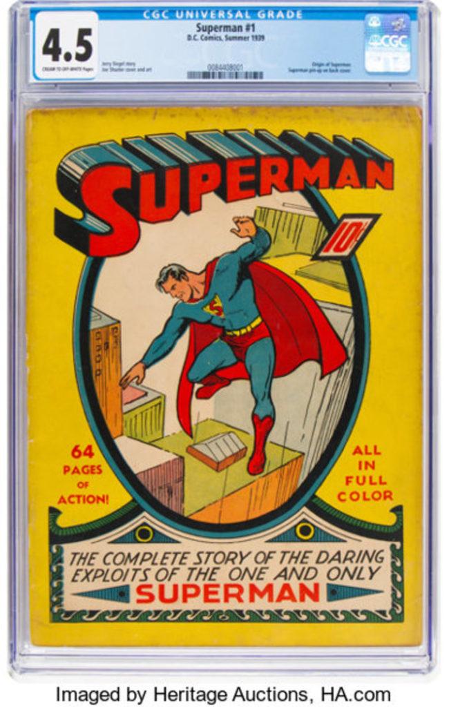 """heritage auctions superman 1 2019 auction1 - Disponible en subasta una copia no restaurada de """"Superman #1"""""""