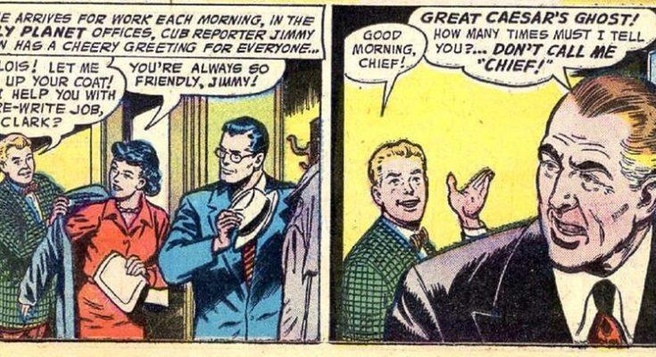 """Por el fantasma del gran César 735x400 - ¿Cuándo dijo Perry White por primera vez """"Por el Fantasma del Gran César"""" en los cómics?"""