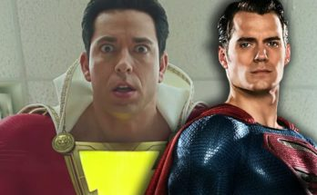 """Superman y Shazam 348x215 - Imágenes tras las cámaras del cameo de Superman en """"Shazam!"""""""