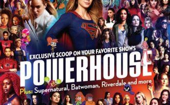 Powerhouse WB Women TVGM 2019 Cover 348x215 - Supergirl en la portada de la revista TV Guide edición especial para la Comic Con de San Diego 2019