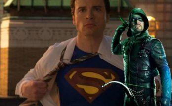 """arrow stephen amell smallville tom welling  348x215 - Tom Welling volverá a su rol de Clark Kent en el crossover """"Crisis en Tierras infinitas"""" del Arrowverso"""