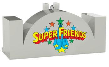 "DC Comics Super Friends Hall of Justice Musical Keepsake Ornament 2999QXI2434 06 348x215 - Hallmark anuncia el adorno musical ""Salón de la Justicia de los Super Amigos"""