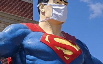 96422783 3270883539601484 1242159466044981248 o 2 348x215 - La estatua de Superman de Metropolis honra desde hoy a los trabajadores esenciales de la crisis del Covid -19