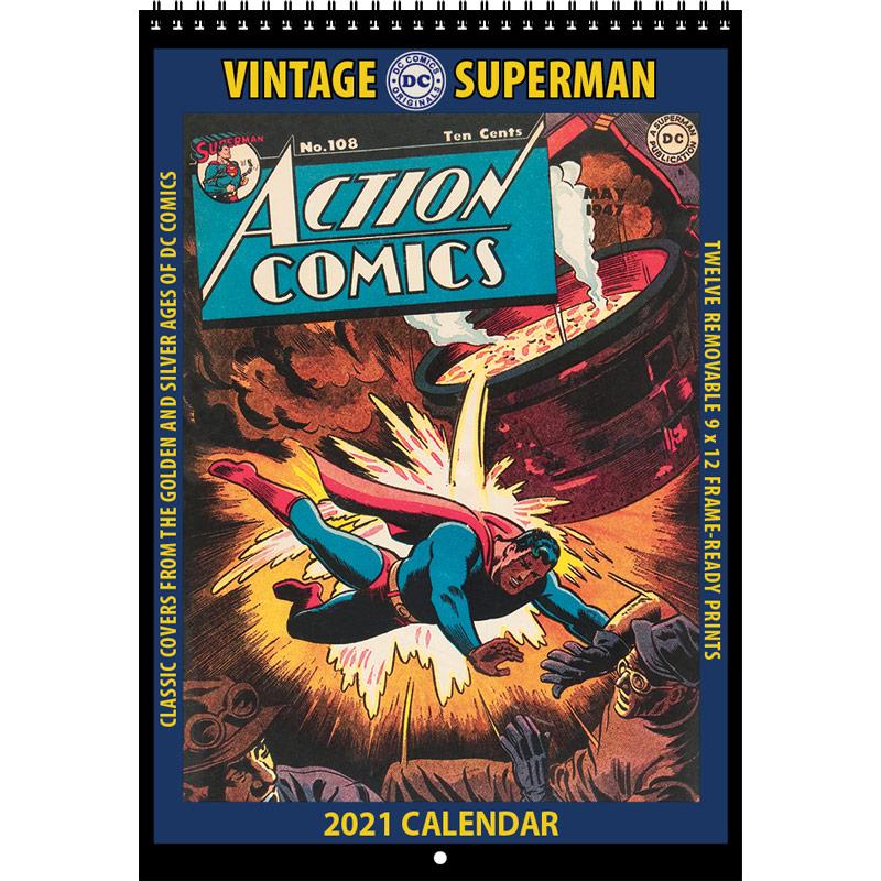 asgard press vintage action comics 2021 calendar - Asgard Press anuncia los calendarios vintage 2021 de DC Comics