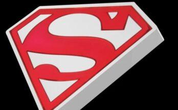 Moneda de plata escudo de Superman