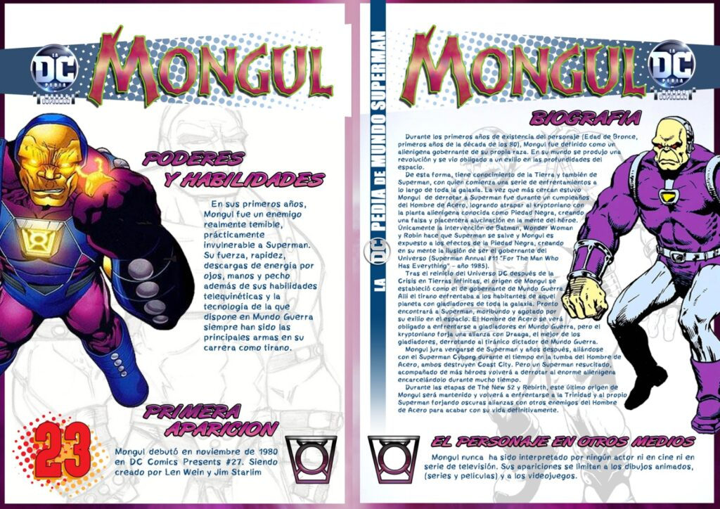 Mongul 1 1024x724 - DCpedia de Mundo Superman: Mongul el tirano de Warworld