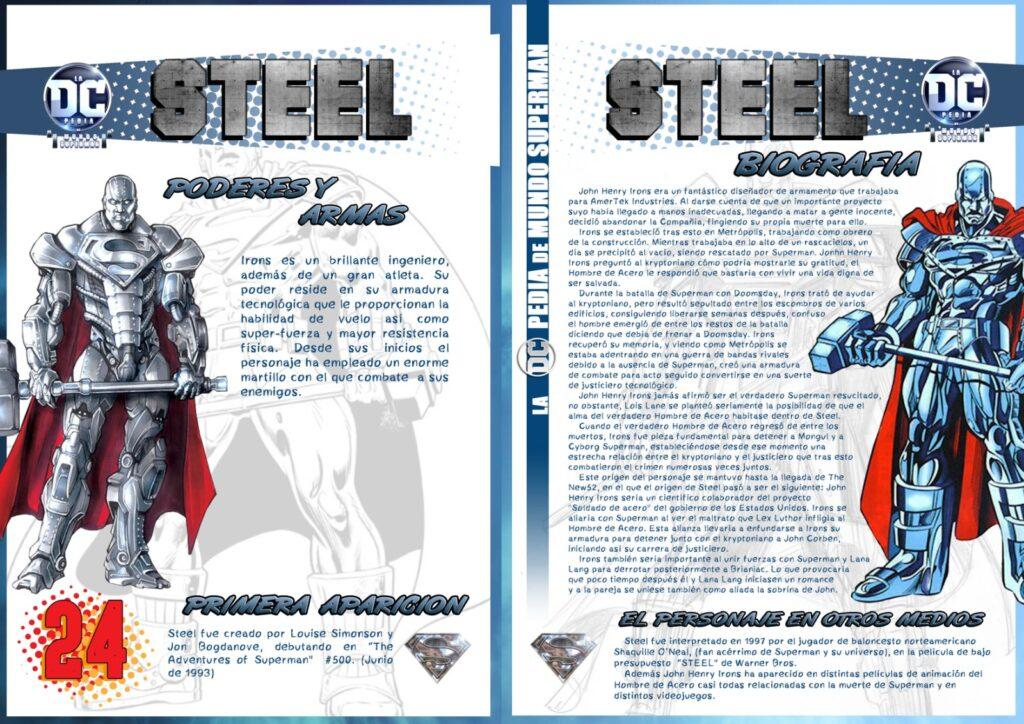 Steel 1 1024x724 - DCpedia de Mundo Superman: John Henry Irons alias Steel