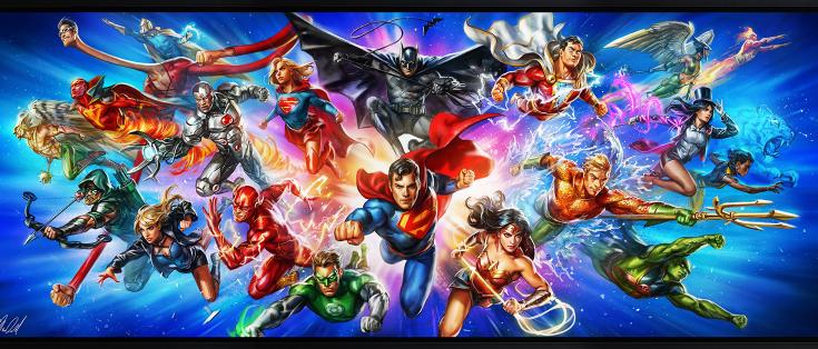 "Impresión artística ""Justice League: The World's Greatest Super Heroes"""