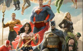 Impresión artística del equipo de la Liga de la Justicia