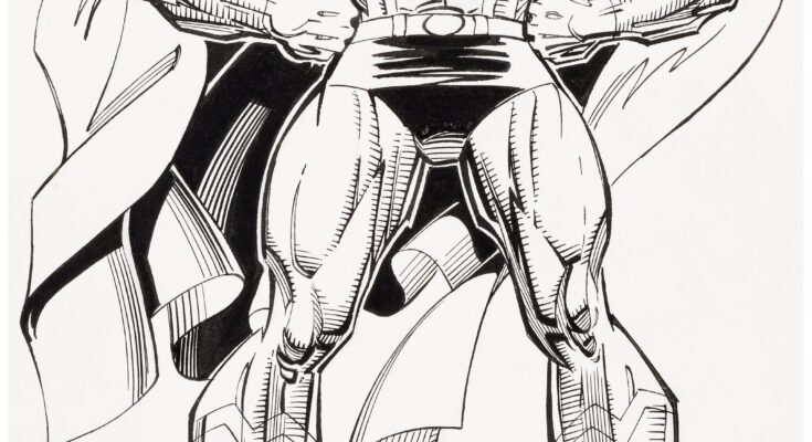 Subasta Jon Bogdanove Dennis Janke 1993 Superman Style Guide Illustration Heritage Auctions
