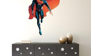 Adhesivos de pared con licencia de Superman de Kismet Decals